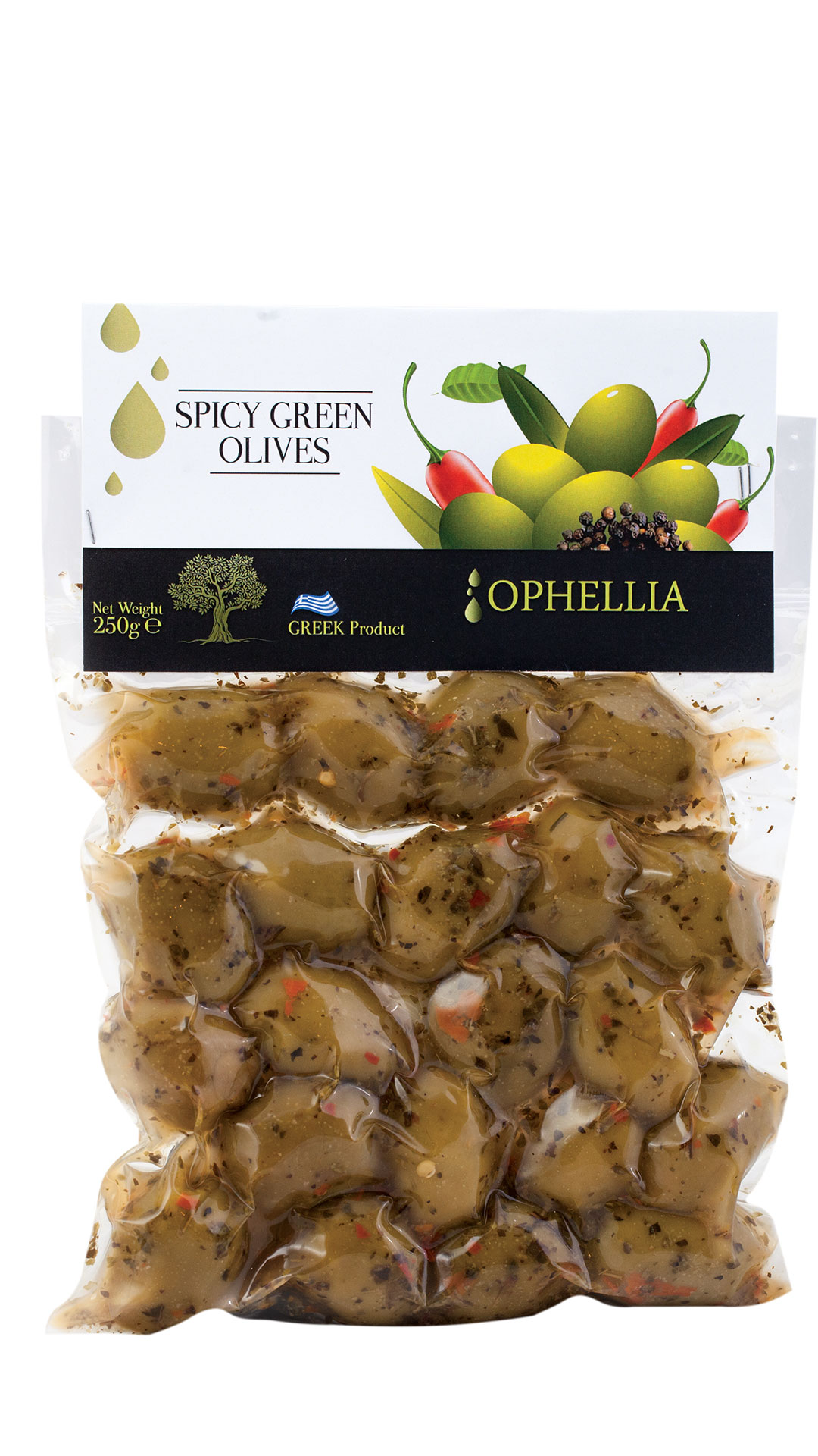 Greek Olives Green Olives In Vacuum With Spices