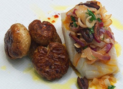 OPHELLIA Olive Oil-Poached Bacalhau and Golden Potatoes